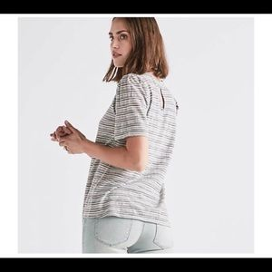 • LUCKY | NWT | Gray Striped Blouse •